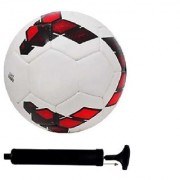 Kit of Premier League Red/Purple Football (Size-5) with Air Pump & Needle