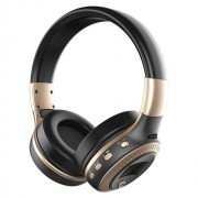 ZEALOT B19 Over-ear Bluetooth Headset with Mic Support TF Card/Aux/FM - Black / Gold