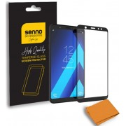 Folie Protectie Sticla Senno Top Full Glue SNNM-SP-FG-SAA6P-BK pentru Samsung A6 Plus 2018 (Transparent/Negru)