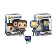 Tony Stark end game y Rescau Funko pop avengers endgame