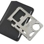 SEGGO Multifunctional Multi Purpose Stainless Steel Pocket Survival 11 In 1 Swiss Army Card(Silver)