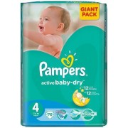 Scutece PAMPERS Active Baby 4 Giant Pack 76 buc