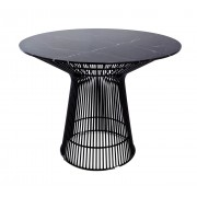 Replica Warren Platner - Wire Dining Table - Black Powdercoated - Marble Top - 150cm