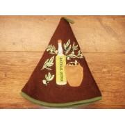 Paño de cocina redondo - Modelo BOTELLA DE ACEITE 2 - Chocolate
