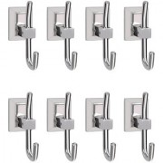 Doyours Stainless Steel Glossy Robe Hooks - 8 Pcs