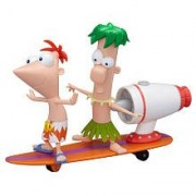 Disney Phineas and Ferb Surfin' Tidal Wave Figure Play Set -- 2-Pc.