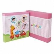 Album foto Baby Train personalizabil 50 file tip carte 200 poze format 10x15 roz