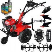 Motocultor Rotakt RO100-7B ECO 7 CP freza 105 cm roti cauciuc rarita plug reversibil roti metal + 2l ulei transmisie + 1l ulei motor