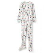 Lands' End Fleece-Jumpsuit mit Füßen für Mädchen - Weiß - 116/122 von Lands' End