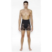Menagerie High Waist Control Lace Boxer Brief Underwear Black