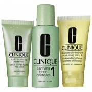 Clinique 3-Step Skin Care System 1 Dry To Very Dry Skin 50 ml + 100 ml + 30 ml Cleansing Kit