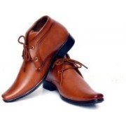 Axonza Brown Synthetic Leather Office wear+Party wear Lace up Formal shoes Lace Up For Men(Brown)
