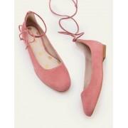 Boden Graurosa Effie Ballerinas mit Knöchelriemchen Damen Boden, 37, Pink