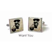 Tyler & Tyler Stencilart White Bricks Cufflinks Want You