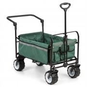 Waldbeck Easy Rider, количка за теглене, до 70 кг, телескопична дръжка, сгъваем, зелен цвят (WGO-Easy Rider Green)