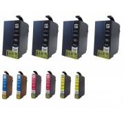 Italy's Cartridge 10 CARTUCCE T2711 T2712 T2713 T2714 COMPATIBILI PER EPSON WF3620 WF3640 WF7110 WF7610 27XL N 4 2711BK + N 2 T2712/3/4