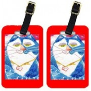 Caroline's Treasures 6007BT Blue Cat Isabella Luggage Tag Luggage Tag(Multicolor)