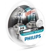 Becuri auto cu halogen pentru far Philips X-treme Vision +130% H4 12V 55W P43t Kft Auto