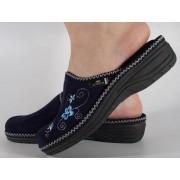 Papuci de casa bleumarin din plus dama/dame/femei (cod DESPINA)