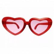 Rode mega hartjes bril