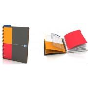 Caiet cu spirala A4+, OXFORD International Managerbook, 80 file-90g/mp, 4 perf., coperta PP - velin