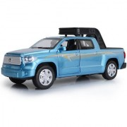 Emob 132 Die Cast Metal Body Blue Toyota Pickup Truck Car Toy with Light and Sound Effects (Multicolor)
