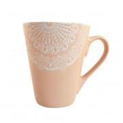 Cana MANDALA culoare Roz 300 ml Ceramica