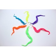 Cute Magical Worm Magic Trick Twisty Caterpillar Plush Wiggle Stuffed Animals Street For Kids (Yellow)