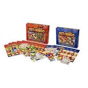 Geotoys Geo Bingo World And Geo Bingo Usa 2 Game Set Educational Geography Board Games