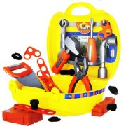 Emob 25 Pcs Classic Engineering Tool Kit Play Set Toys with Handy Suitcase