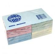 Notesuri autoadezive (12 seturi), 75 x 75mm, 100 file/set, diferite culori pastel, GLOBAL NOTES