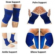 Gym Combo of Knee Support Ankle Support Palm Support Elbow Support for sport man
