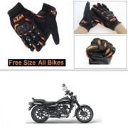 AutoStark Gloves KTM Bike Riding Gloves Orange and Black Riding Gloves Free Size For Bajaj Avenger 220 street