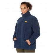 Columbia College Plus Size Michigan Wolverines CLG Give and Gotrade II Full Zip Fleece Jacket Collegiate Navy