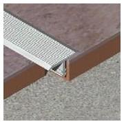 TLS - Profil T striat din aluminiu eloxat 18 mm