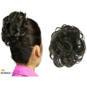 Wonder Choice Women Hair Bride Bun Stylish Rubber Bun Juda Free Size - Natural Black Hair Extensions