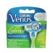 Gillette Venus Embrace 1ks 4 Pieces of Spare Blades Per Donna (Cosmetic)