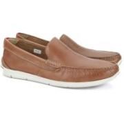 Clarks Karlock Lane Tan Leather Loafers For Men(Tan)