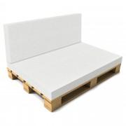 [neu.haus]® Cojín Respaldo sin funda para sofá de europalés - Blanco - Muebles de jardín 40 x 120 x 8 cm