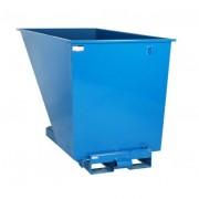 Rolléco Benne auto-basculante pour chariot élévateur 600 litres Bleu = Papier