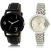 The Shopoholic Black Silver Combo Fashionable Funky Look Black And Silver Dial Analog Watch For Boys And Girls New Watches For Men