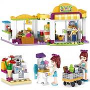 Generic Friend Series Model Building Blocks Compatible Friends Heartlake Supermarket Model Emma Mia Figures Toys