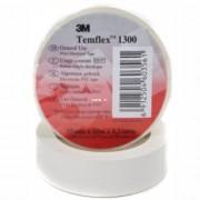 3M Tempflex 1300 20mx19mm PVC, elektromos szigetelőszalag, fehér