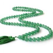 Green Agate/Hakkik 108 Beads Buddhist Prayer/Japa/Rosary/wearing/Fashion Wear Mala