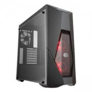 Кутия Cooler Master MasterBox K500L, with 2 x RED LED fan and RED striping, CM-CASE-K500L-KANN-S00