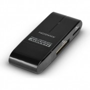 Card reader extern Axagon CRE-D4B, USB 2.0, 4 in 1, SD, microSD, MS, M2, Negru
