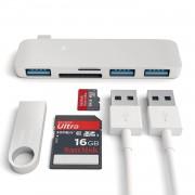 Satechi USB-C USB Hub - мултифункционален хъб за свързване на допълнителна периферия за компютри с USB-C (сребрист)
