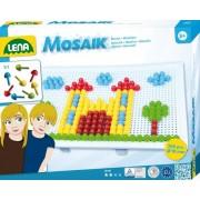 SET CREATIE SI CONSTRUCTIE MOZAIC MULTICOLOR MARE 200 PIESE - LENA (LE35608)