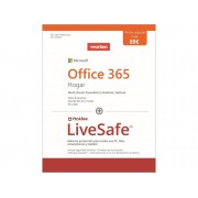 Microsoft Pack Software MICROSOFT Office 365 Home + Mcafee LiveSafe