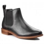 Clarks Sztyblety CLARKS - Taylor Shine 261119654 Black Leather